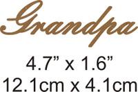 Grandpa - Beautiful Script Chipboard Word