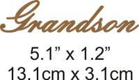 Grandson - Beautiful Script Chipboard Word
