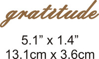 Gratitude - Beautiful Script Chipboard Word