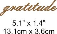 Gratitude - Beautiful Script Chipboard Word