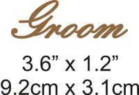 Groom - Beautiful Script Chipboard Word