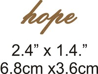 Hope - Beautiful Script Chipboard Word