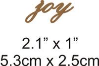 Joy  - Beautiful Script Chipboard Word