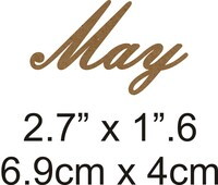 May - Beautiful Script Chipboard Word