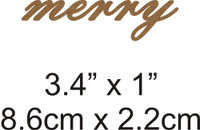 Merry - Beautiful Script Chipboard Word