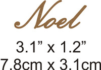 Noel - Beautiful Script Chipboard Word