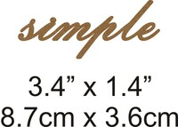 Simple - Beautiful Script Chipboard Word