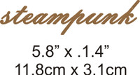 Steampunk - Beautiful Script Chipboard Word