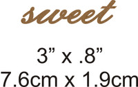Sweet - Beautiful Script Chipboard Word