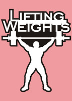 Lifting Weights - Die Cut