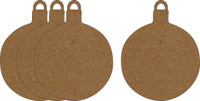 "Ornaments Small Round 2"" 4 Pack - Chipboard Shapes"
