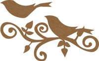 Bird Flourish Large - Chipboard Embellishment