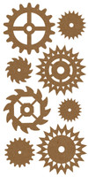 Gears by Want2Scrap - Chipboard Embellishment