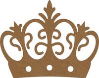 Crown Flourish - Chipboard Embellishment