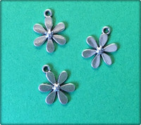 Daisy Flower - Antique Silver