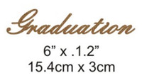Graduation - Beautiful Script Chipboard Word
