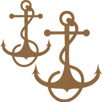 Anchor with Rope (2 pack) Chipboard Embellishment