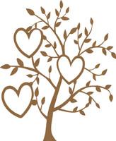Heart Tree - Chipboard Embellishment