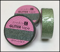Washi Tape - Mint Green Glitter