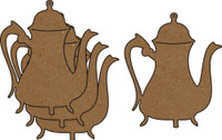 Victorian Teapot 4 Pack - Chipboard Embellishments