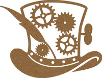 Steampunk inspired Top Hat Chipboard Embellishment