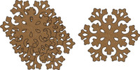 Snowflakes #1 - 4 Pack Chipboard Embellishment