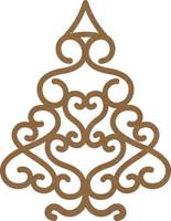 Christmas Swirl Tree Large - Chipboard Embellishment