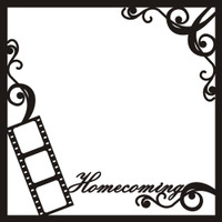 Homecoming with Swirls - 12x12 Overlay