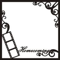 Homecoming with Swirls - 12x12 Overlay