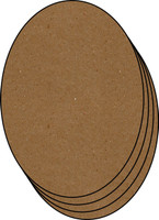 Picture Ovals 4 Pack - Chipboard Embellishment
