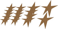 Stars (16 Pack) - Chipboard Embellishment
