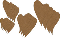 Shabby Chic Funky Hearts (18 Pack) - Chipboard Embellishment