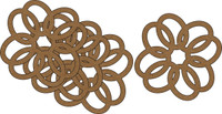 Ornate Ovals (4 Pack) - Chipboard Embellishment