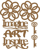 Art Imagine Inspire Embellishment Set - Chipboard Embellishment