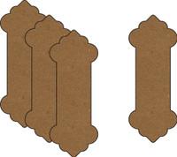 Ribbon Spools - Style 1 (4 Pack) - Chipboard Embellishment