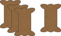 Ribbon Spools - Style 2 (4 Pack) - Chipboard Embellishment