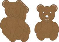Teddy Bears (4 Pack) - Chipboard Embellishment