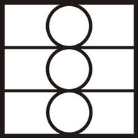 Mosaic 3 - 3 Circles - 12x12 OverlaY