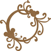 Frame Flourish with Mouse Ears - Chipboard Embellishment