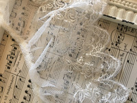 Ivory Embroidered Ruffled Trim - 1yd