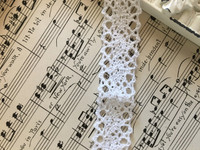 White Crochet Trim - 1yd