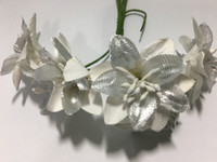 White/Silver Paper Flower #8091