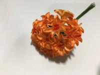 Orange Paper Flower #8102
