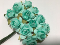 AQUA Blue Mini Paper Flower 8050E