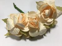 """Ivory 1"""" Paper Flower  8009E"""