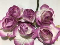 """White/Lavender 1"""" Paper Flower  8009E"""