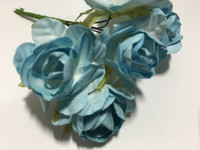 "LT Blue 1"" Paper Flower  8009E"