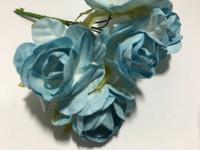 """LT Blue 1"""" Paper Flower  8009E"""