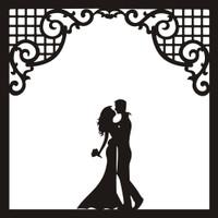 Bride and Groom - 12x12 Overlay