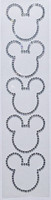 Mouse Ears Bling 5 pack- Silver Rhinestones